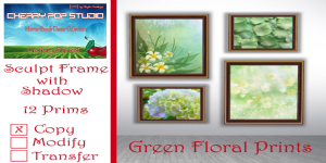 [CPS] Green Floral Prints AD