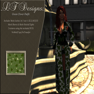 .LFDesigns. Green Clover Outfit